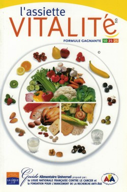 2002 Couverture livre Jean-Claude Rodet L'assiette vitalité  Ligue nationale française contre le cancer, Quebecor World, Montreal, Canada 2002 (ISBN 2-9806527-1-7)